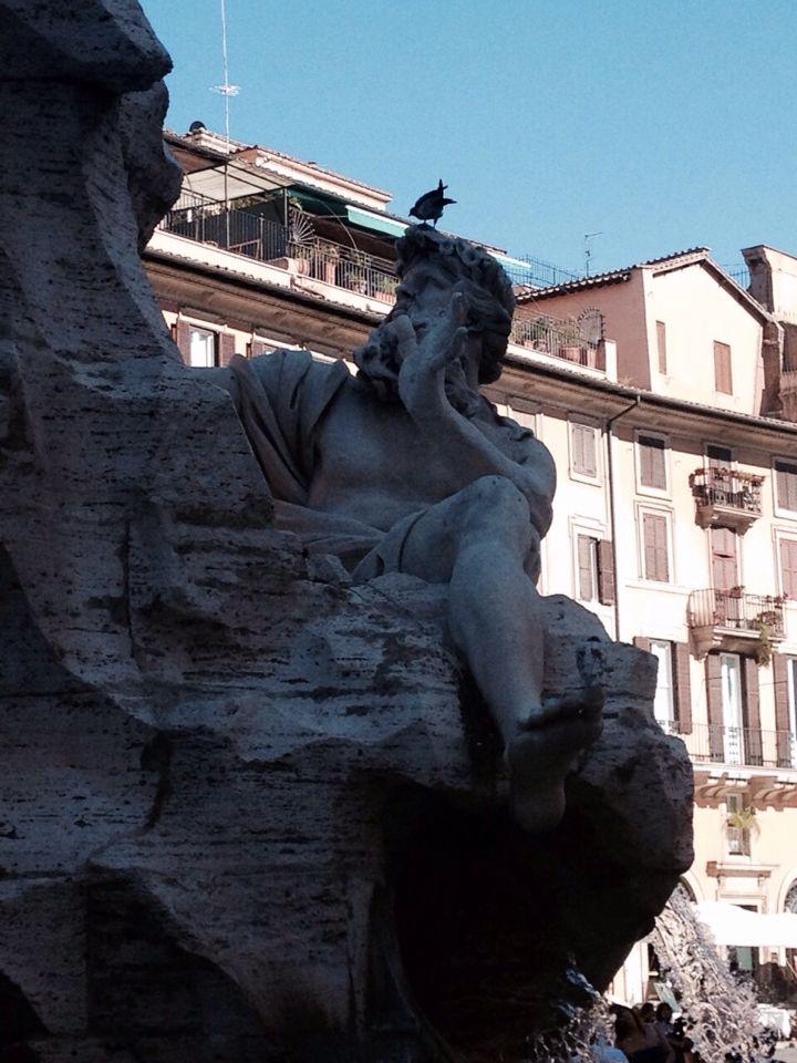 Particolare 1 Fontana dei 4 Fiumi