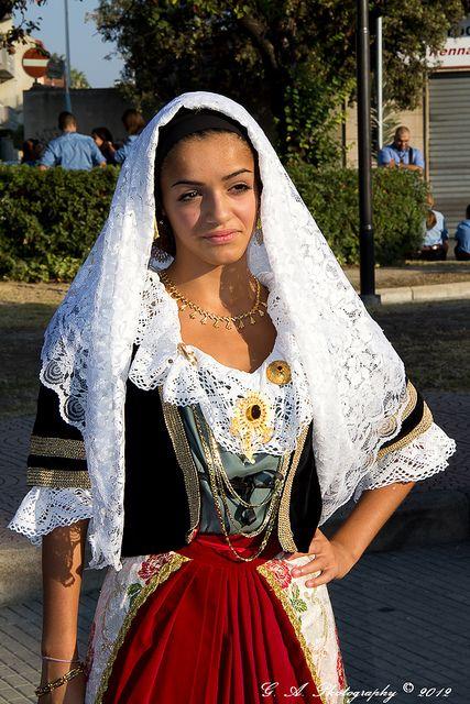 Sardinia,Italy, traditional costume