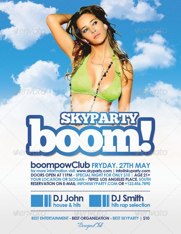 Boom Skyparty Flyer