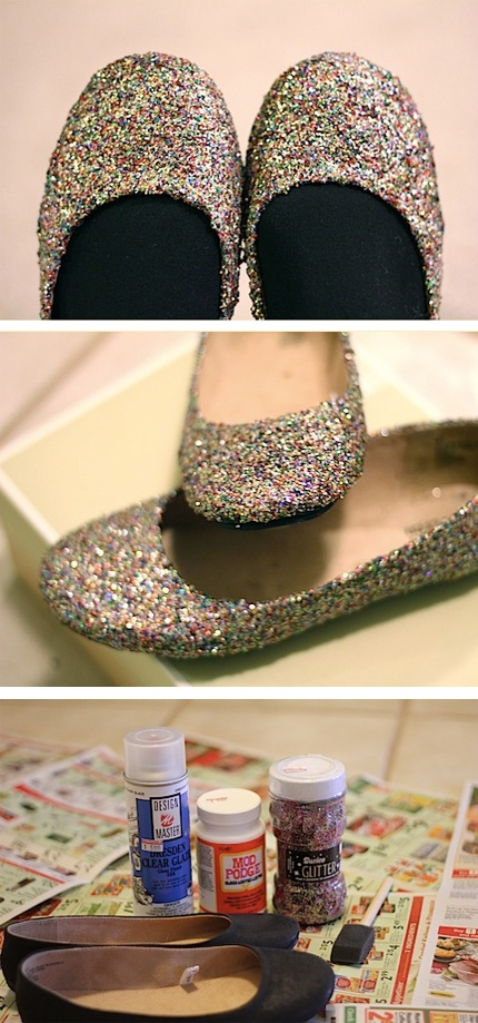 """because every girl needs a pair of glitter ballerinas...""""There's no place like home"""" -DIY"""