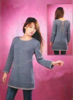 Серое платье-туника, фото