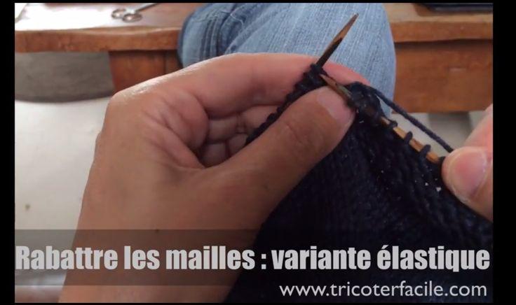 Rabattre les mailles pour une bordure élastique