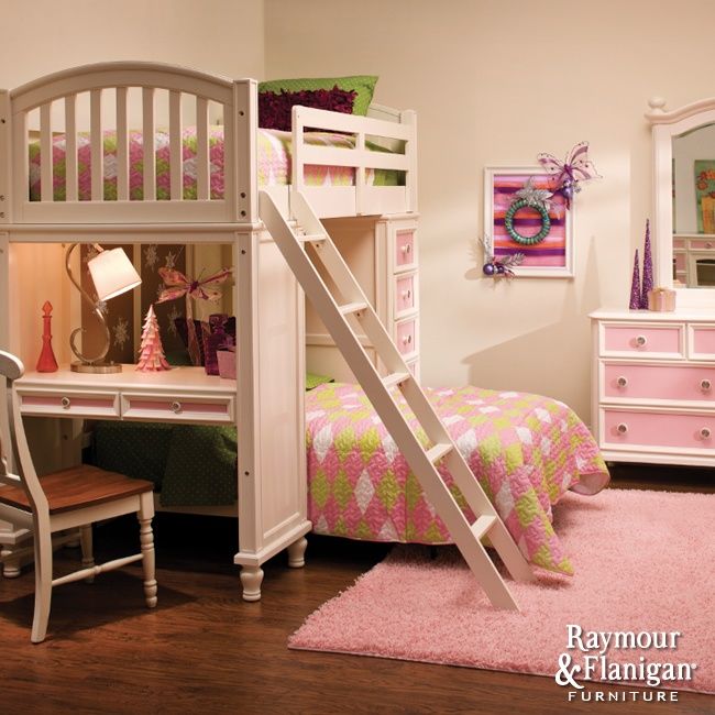 BuildABear Collection Loft bed and desk combination