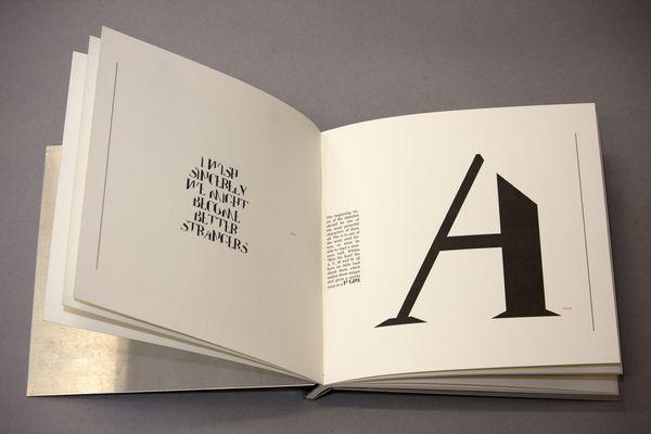 Type Specimen Book: Slice The Serif by Kathryn Evans-Prosser, via Behance
