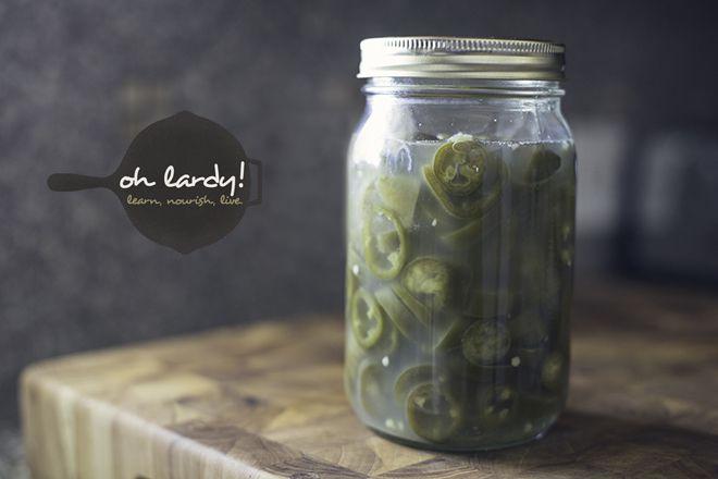 Fermented Jalapeno rings / @Oh Lardy Com / http://ohlardy.com/fermented-jalapeno-rings