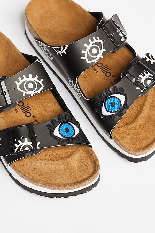 801608b1b59 Eyes Arizona Birkenstock - Graphic Birkenstocks with Eye Motif Pattern -  Unique Sandals and Birks