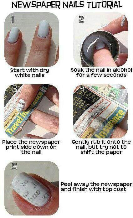 Transfer nail art!