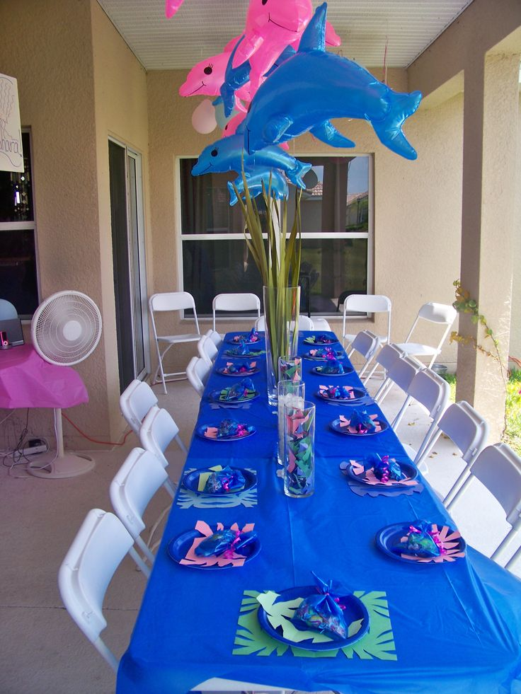 Dolphin Party idea on a tight budget