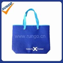 Custom handled non-woven shopping bag without gusset
