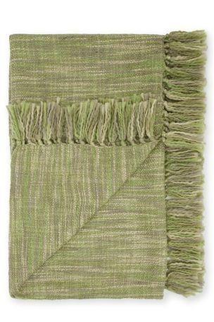 Green Multi Weave Throw