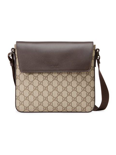 13ef9d0a3e73 GUCCI GG Supreme messenger. #gucci #bags #shoulder bags #lining #canvas # nylon #suede #