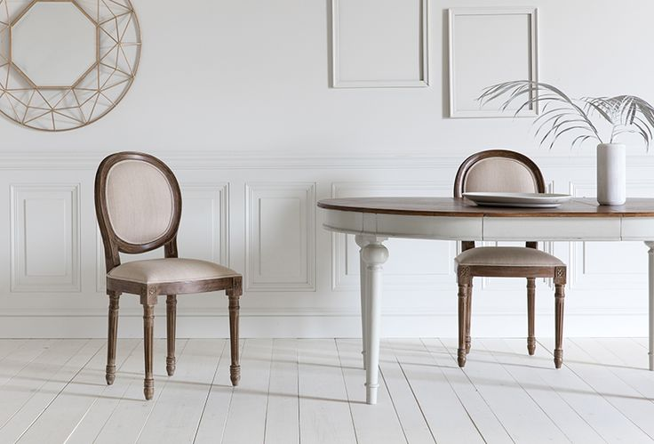 Ethel Dining Chairs with Noemie Dining Table & Aries Mirror