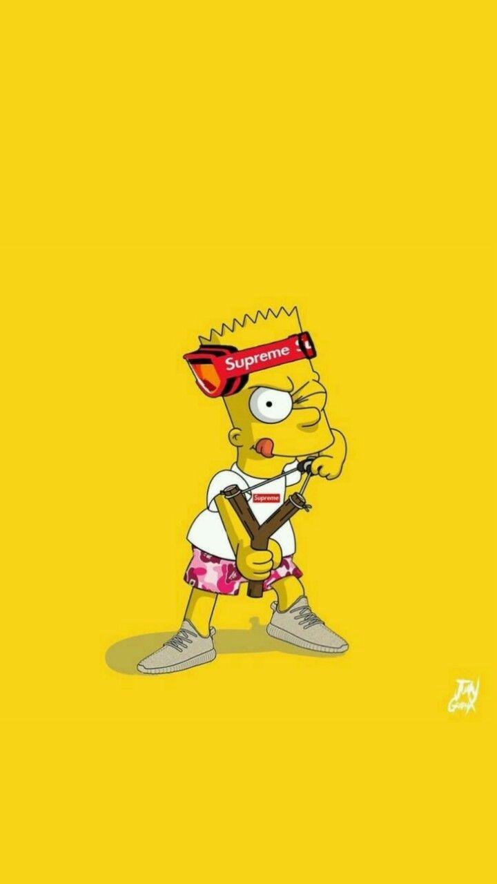 Bart Simpson Wallpaper Tumblr Simpson Wallpaper Iphone Simpsons Art Supreme Wallpaper