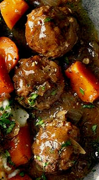 Beef Meatball and Guinness Stew - this is one of those stews that tastes better the next day and also freezes well. ❊
