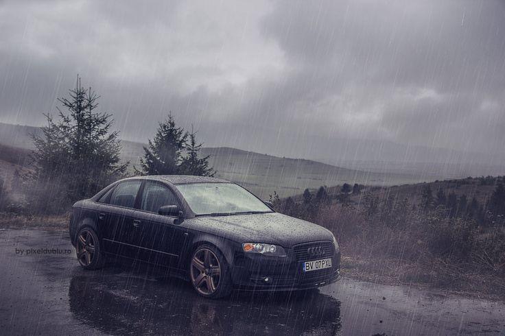 audi a4 b7 in rain    by carnacior-d6oj117