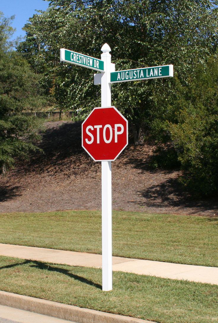 Darlington Street Sign Combo Stop Sign Post