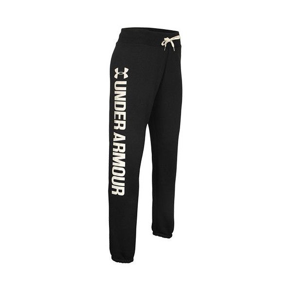 Women's Under Armour Favorite Fleece Boyfriend Pants ($55) ❤ liked on Polyvore featuring activewear, activewear pants, boyfriend sweatpants, cuff sweatpants, cuffed sweatpants, under armour sportswear and sweat pants