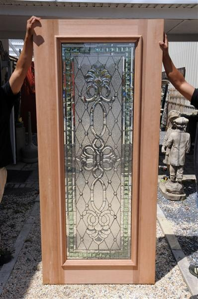 The Gatz   Leaded Glass Entry Door. Like It. Needs Dark Stain