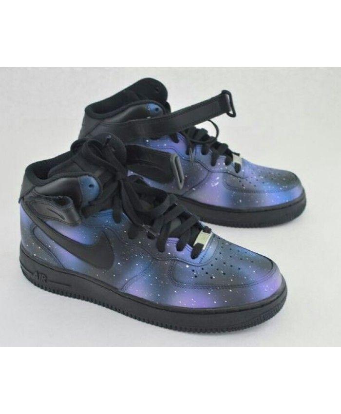 Nike Air Force 1 Mid Dark Galaxy Shoes UK Sale