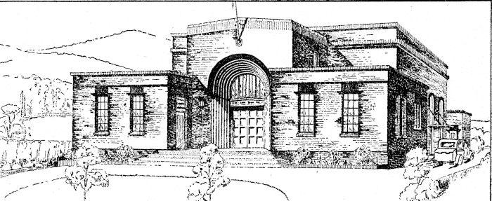 Glen Eden Town Hall design. May 1935.