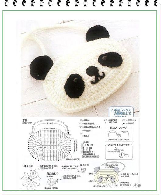 """Patrones Crochet: Bolsitos de """"Animalitos Amigurimi"""". Patrones"""