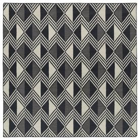 Kaleen Nomad Black Square Indoor Handcrafted Southwestern Area Rug (Common: 8 X 8; Actual: 8-Ft W X 8-Ft L) Nom06-02-88