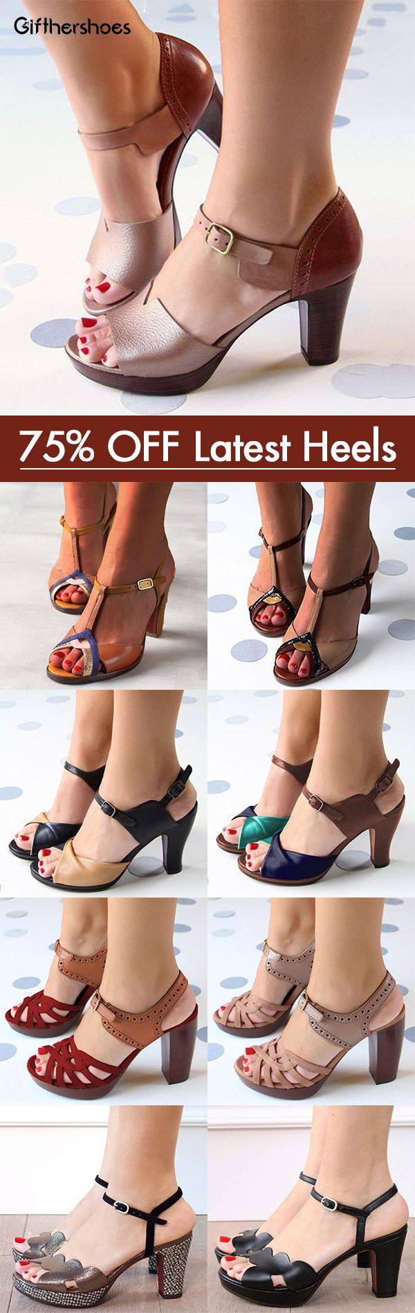 SHOP NOW>>68% OFF Hot Chunky Heels Sandals Shoes Picks for Your Daily Outfits.Must Have Pair!