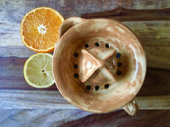 Citrus Juicer Citrus Reamer Ceramic Juicer Rustic by KismetPottery