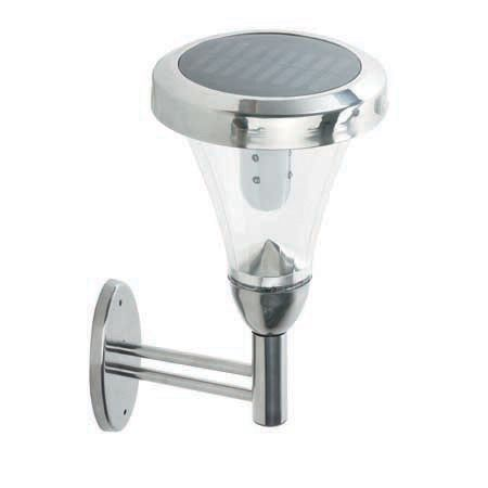 Lámpara solar de pared con 9 Leds y función reposo 1 Led