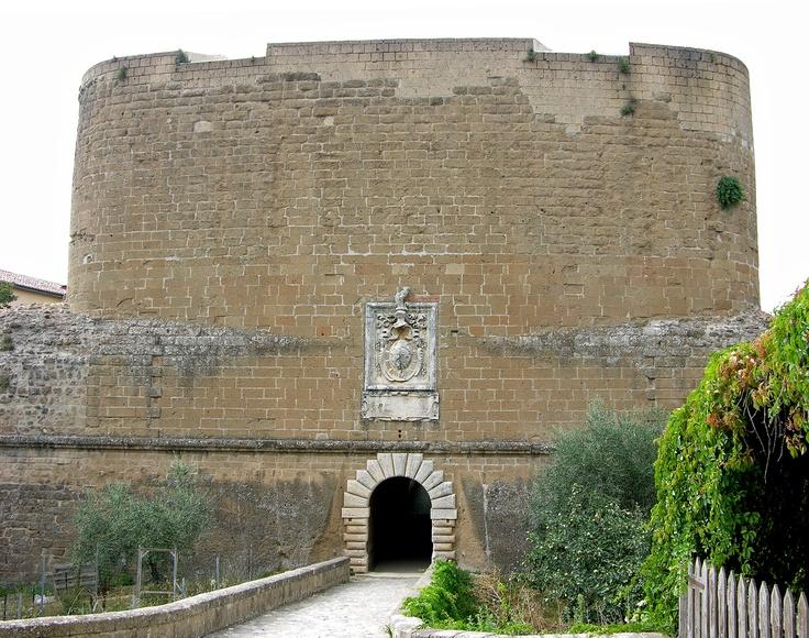 Sorano - Main entrance of Fortezza Orsini