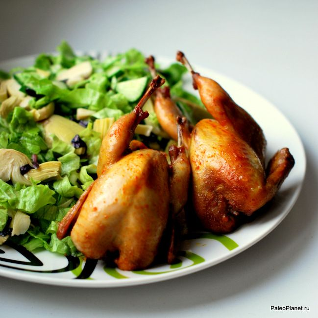Перепёлки в рукаве! Очень вкусно! #палео #ужин !!! #палеодиета #палеорецепт #безглютена #вкусно #пп #paleoplanet #перепелка #paleo #paleodiet #paleofood #foodporn #зож #худею #мясо #quail