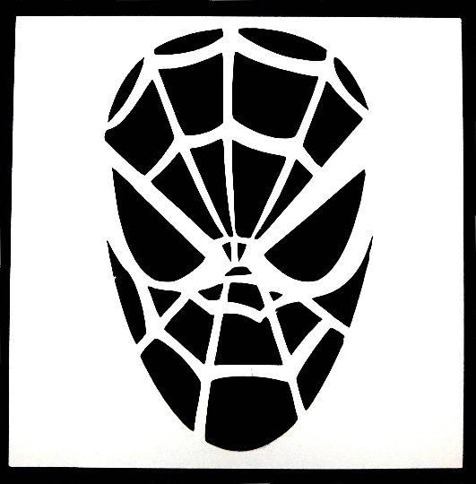Spiderman Stencil 3.5 x 3.5 Inches   Spiderman pumpkin ...