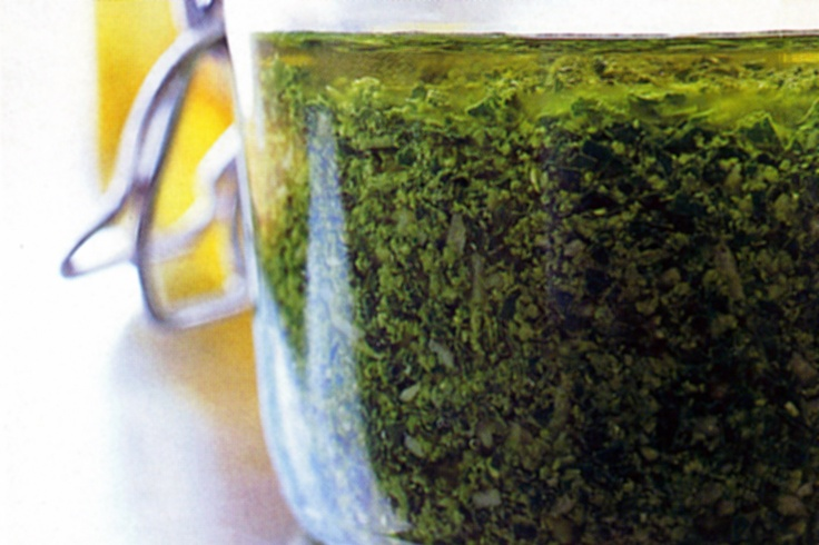 For the perfect accompaniment to your pasta dish, or for a gourmet addition to chicken or fish, whip up this delicious basil pesto.