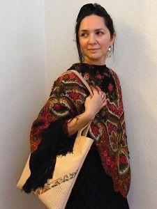 Helena (Erika Varga's sister) wearing their designs