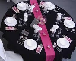 Resultado de imagem para decoração de festas de quinze anos preto e rosa