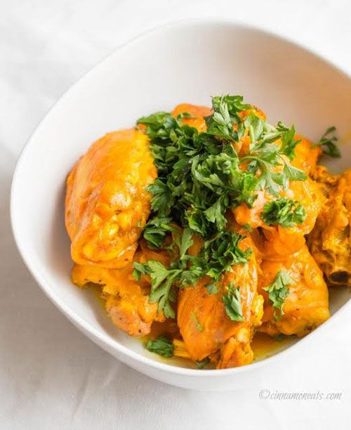 Saffron Chicken with Orange Reduction (gluten, grain, and dairy free, autoimmune paleo) // deliciousobsessions.com