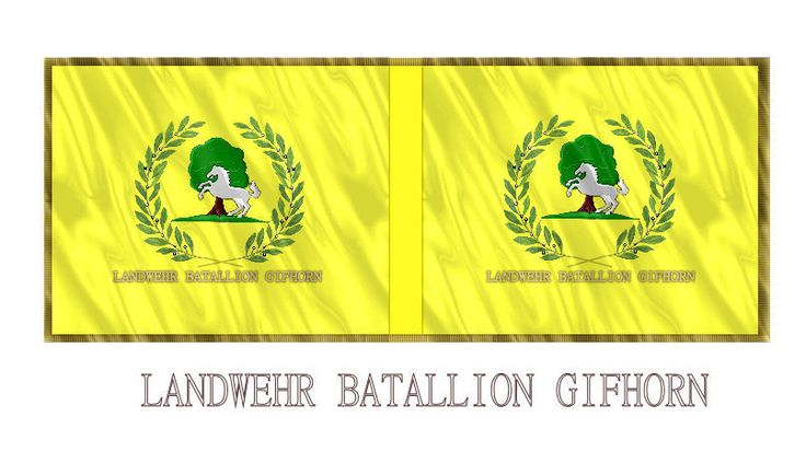 Napoleonic Hanovarian Landwher Batallion Gifhorn 28mm Flag representation