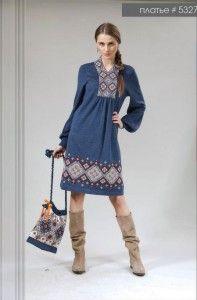 Платье с вышивкой арт.5327