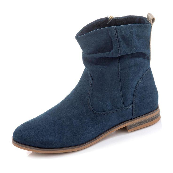 s.Oliver Stiefelette für nur 59,99€ (02.03.17) in Farbe blau jetzt bei gebrüder götz online kaufen!