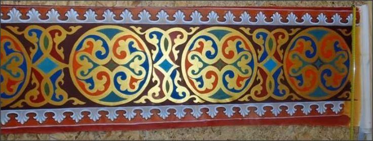 Stenciled Russian decoration.