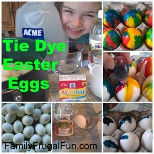 Break away from conventional Easter Eggs this year and learn how to make Tie Dye Easter Eggs. They are REALLY easy to make and so much fun - so colorful!