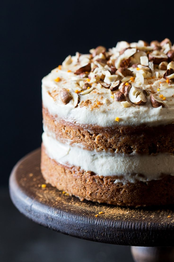 Vegan Carrot Cake with Cashew Frosting | Lazy Cat Kitchen