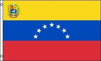 """3'x5' Venezuelan 7 Star FLAG of VENEZUELA, 1930-2006 by HISTORIC WORLD FLAGS. $12.99. FlagDistributor does not necessarily endorse any meanings or connotations you may assign to this or any other flag, """"Meaning, like beauty, is in the eye of the beholder."""" We support the spirit of the 1st Amendment to the U.S Constitution; Political censorship is UnAmerican and we don't practice it. Over 1,000 different designs in stock, perhaps the largest selection of flags in the world. Cus..."""