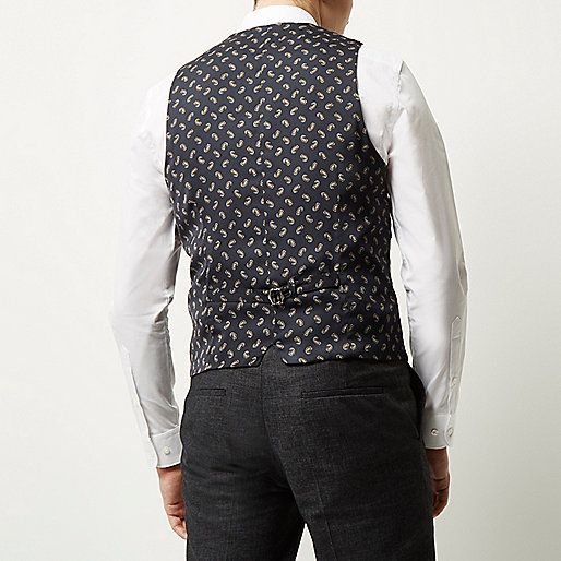 Black linen waistcoat - suits - sale - men