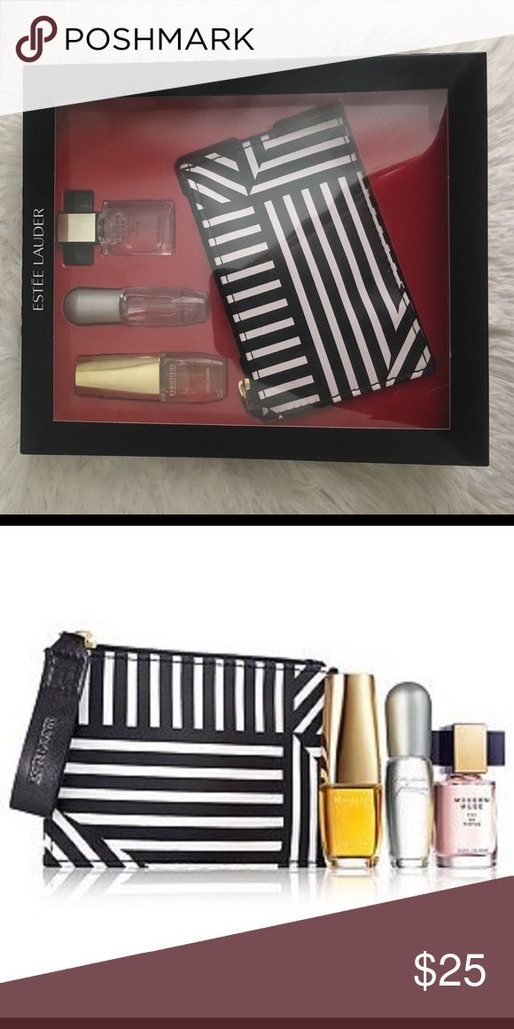 Estēe Lauder Perfume Gift Set Comes with three sampler perfume bottles & a cosmetic bag (Scents: Beautiful, Pleasures, & Modern Muse) Estee Lauder Other