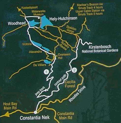 Cape Town Hiking Trails - Table Mountain - Constantia Nek