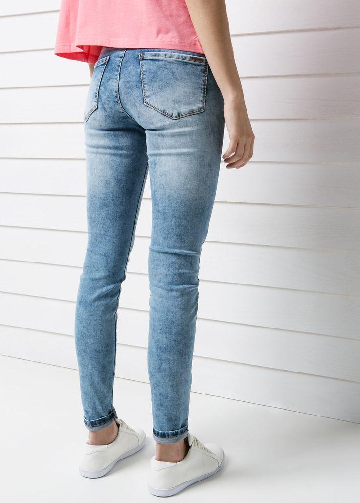 Jeggins lavado bleached - Jeans - Mujer - MANGO