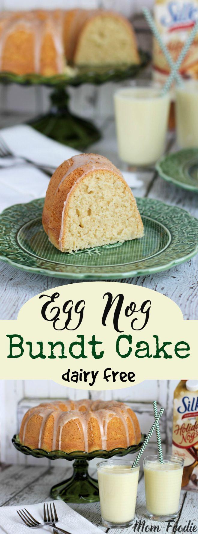 Eggnog Bundt Cake - dairy free