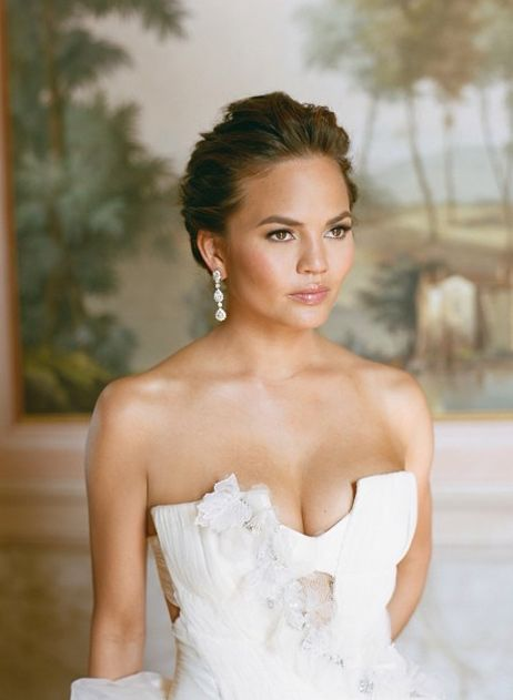 Celebrity wedding day beauty: 10 A-list bridal looks to add to your Pinterest board // Chrissy Teigen