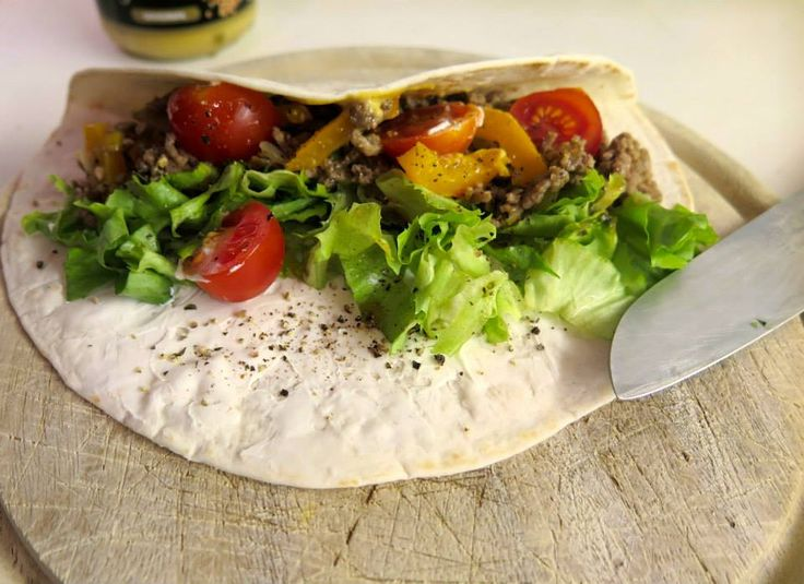 My Spicey Chicken & Salat Wrap for http://healthyfitnessnutrition.com/